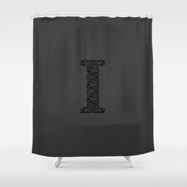 Floral Letter I Shower Curtain