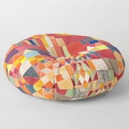 Burg und Sonne 1928 - Paul Klee Floor Pillow