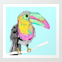 toucan Art Prints featuring Toucan by caseysplace