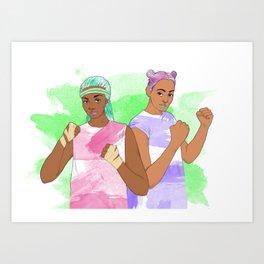 Fists Up! Art Print