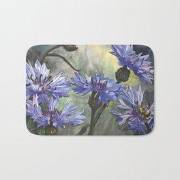 Cornflower Blue Bath Mat