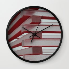 Industrial jenga Wall Clock
