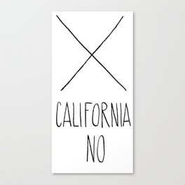 California No (T-Shirt) Canvas Print