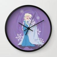 elsa Wall Clocks featuring Elsa by LarissaKathryn