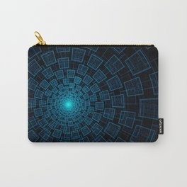 Circular Abstract Fractal Pattern Carry-All Pouch
