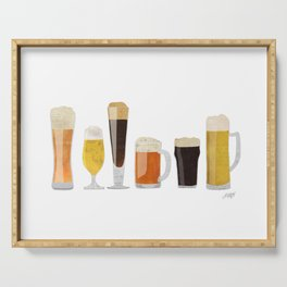 Beer Mugs Serving Tray