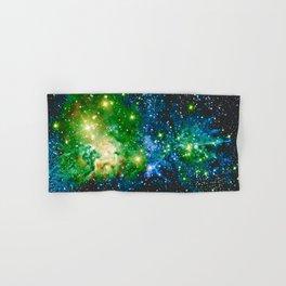 Fox Fur Nebula Teal Green Hand & Bath Towel