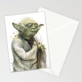 Yoda Jedi Portrait Sci-Fi Stationery Cards