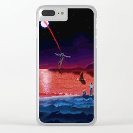 End of Pixelgelion Clear iPhone Case