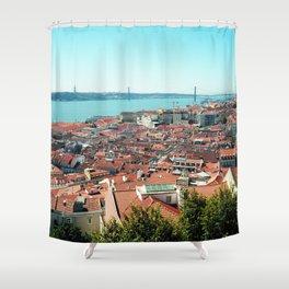 Lisbon, Portugal Analog 6x6 Kodak Ektar 100 (RR 163) Shower Curtain
