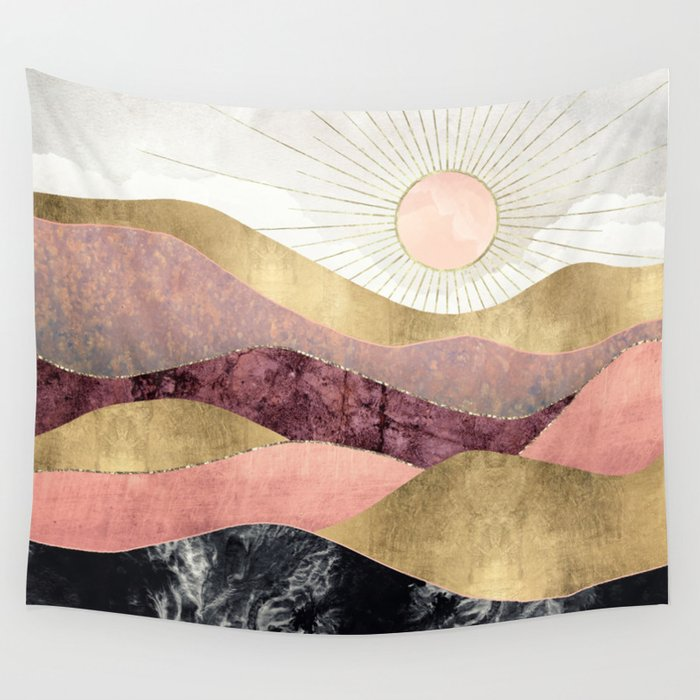 Blush Sun Wall Tapestry