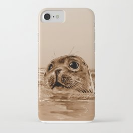 The SEAL - sepia 17 iPhone Case