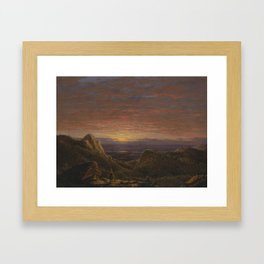 Morning, Looking East over the Hudson Valley from the Catskill Mountains,  Frederic Edwin Church (18 Framed Art Print