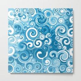 Ocean Whirlpool Vortex Metal Print
