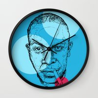allyson johnson Wall Clocks featuring Robert Johnson by mr.defeo