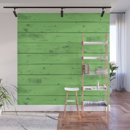 Green Wood Texture Wall Mural