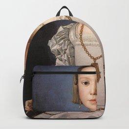 Agnolo Bronzino - Portrait of Bia de' Medici Backpack