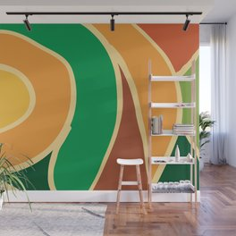 Nature colors abstract 1 Wall Mural