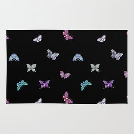 holiday, butterfly, jewels, precious, butterflies, new year, thanksgiving, Christmas, holidays, 2018 Rug