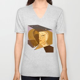 Mars and Venus Conjunction Unisex V-Neck