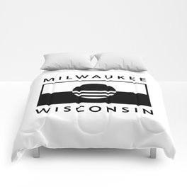 Milwaukee Wisconsin - White - People's Flag of Milwaukee Comforters