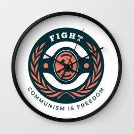 Fight Communism Freedom Wall Clock
