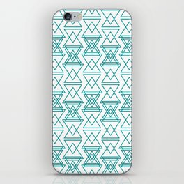 RIGHT AND WRONG I: EASY BLUE iPhone Skin