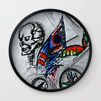 cycle Wall Clocks featuring cycle by Maithili Jha