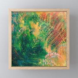 Ferns in color Framed Mini Art Print