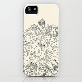 Psychedelic Bunny Mountain iPhone Case