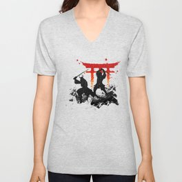 Samurai Duel Unisex V-Neck