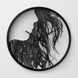 Hair in Profile Wall Clock