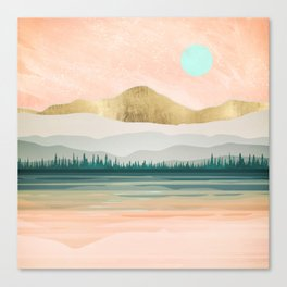 Spring Forest Lake Canvas Print