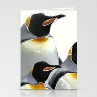 penguins Stationery Cards featuring Penguins by Regan's World