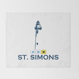 St. Simons Island - Georgia. Throw Blanket