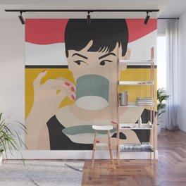 Audrey Tea Time Wall Mural
