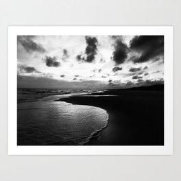 Black and White Tide Art Print