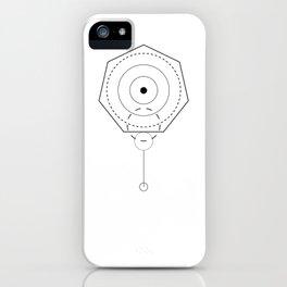 Screw Geometry white iPhone Case