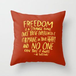 AI WEIWEI Throw Pillow