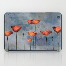Poppyfield against the blue sky- abstract watercolor artwork iPad Case