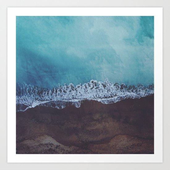 Oceans away Art Print