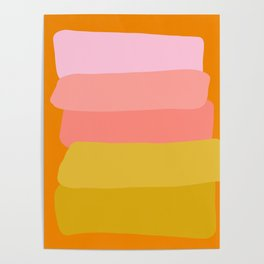 Abstract Sunset Colors Poster