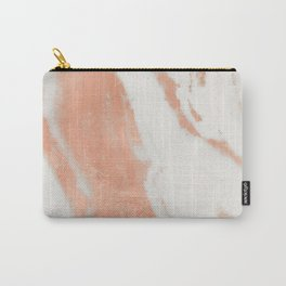 Marble Rose Gold Shimmer Light Carry-All Pouch