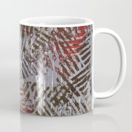 Abstract Red Gray Painting Coffee Mug