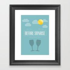 Before Sunrise Framed Art Print