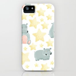 Hippos and Stars iPhone Case