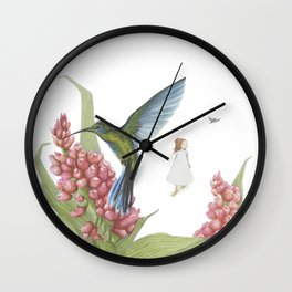 Carried away with Colibris Wall Clock