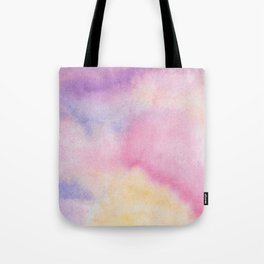 Abstract artistic hand painted pink lavender watercolor Tote Bag