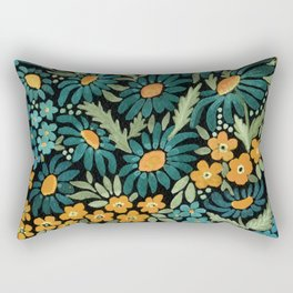 Watercolor . Chamomile field. 2 Rectangular Pillow
