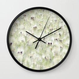 Pansy Field Floral Pattern III Wall Clock
